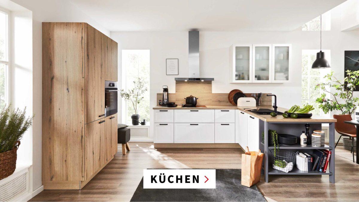 Küche Holz und weiss maschal Möbel Bremen