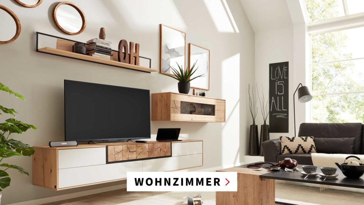 Wohnzimmer maschal Möbel Holz Wohnwand Bremen