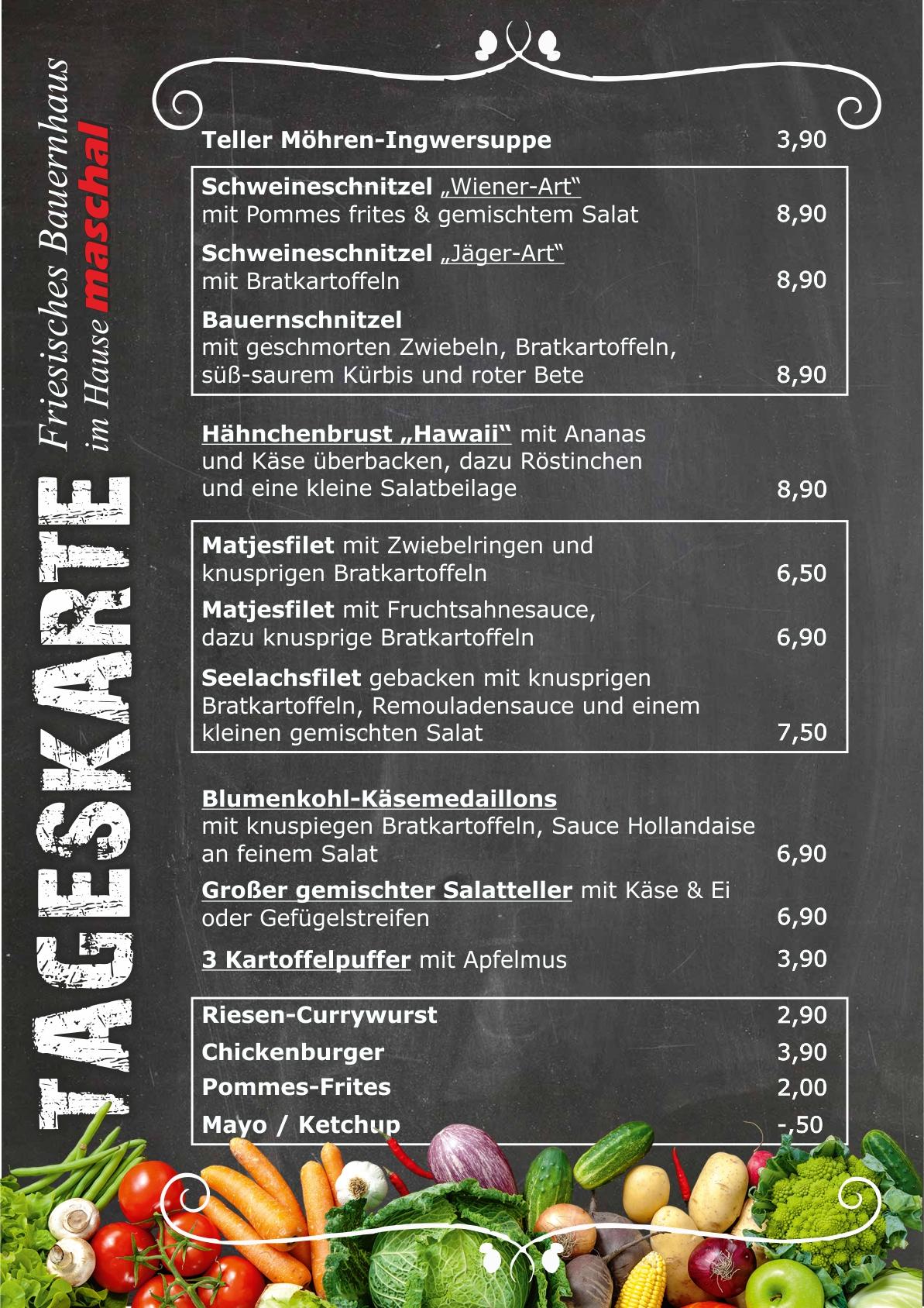 Tageskarte_friesisches_Bauernhaus_im_Hause_maschal_Varel_Wilhelmshaven-Oldenburg
