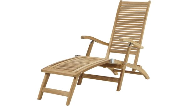 Ploß Teakholz-Deckchair York – Gartenmöbel