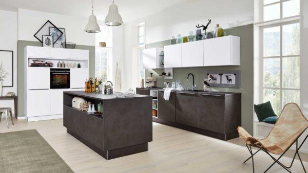 Interliving Küche Serie 3011 mit SIEMENS Einbaugeräten