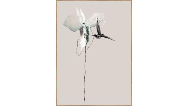 Posterboard Flower mit Rahmen